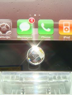 Swarovski Crystal Home Button Sticker for iPhone by blingstuffshop, $3.00