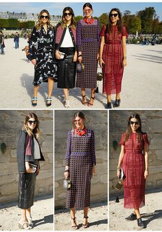 As Gallerist Sisters Fernanda Cassou, Carolina Cassou, Mariana Cassou e Amanda Cassou a caminho do desfile de verão 2016 do estilista Elie Saab na PFW.