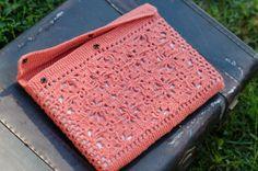 """Macbook/ Mackbook pro 13""""  granny square crochet cozy/cover"""