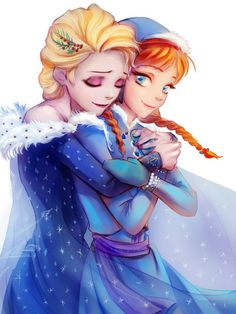 Elsa and Anna from Olaf's Frozen Adventure Animation Film, Disney Animation, Disney And Dreamworks, Disney Pixar, Disney Magic, Disney Frozen, Ghibli, Frozen Fan Art, Frozen Elsa And Anna