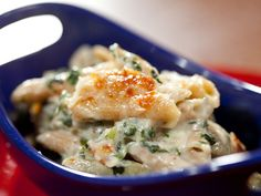 Spinach and Artichoke Baked Whole Grain Pasta recipe from Rachael Ray via Food Network