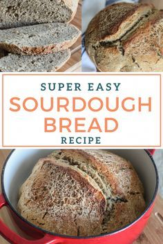 A super easy recipe for making homemade sourdough bread! Grab your sourdough starter and impress your family and friends with a fresh loaf of homemade sourdough bread.