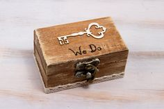 Welcome and thanks for visiting my store!  Wooden Ring Bearer Box is great for your most special day - Wedding day. Adorable way to present the most symbolic and enduring portion of your wedding ceremony!  Please leave youg desired date on checkout!  Dimensions are: 4 x 2 1/2 x 2  ( 10cm. / 6,5 cm. / 5 cm. )  When you buy a piece of MyHouseOfDreams original art you are buying a truly keepsake, made of lots of love and personal attention  We specialize in rustic and shabby chic weddings and…