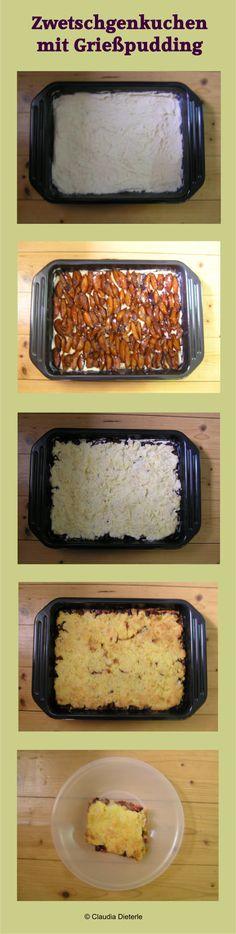 Zwetschgenkuchen mit Grießpudding