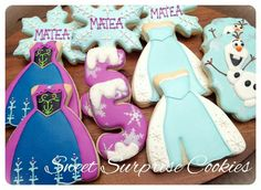 New Birthday Cake Girls Frozen Sugar Cookies Ideas 5th Birthday Girls, New Birthday Cake, Frozen Birthday Party, Birthday Cookies, Frozen Party, Frozen Theme, Frozen Cookies, Frozen Cake, Olaf Frozen