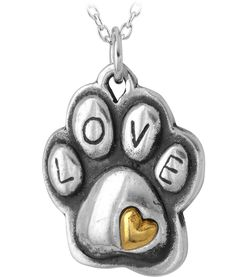 Touch of Love Paw Print Necklace
