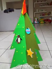 Albero di Natale attacca-stacca fai da te per bambini - children felt and cardboard tree with felt decorations
