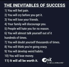 The Inevitables of Success