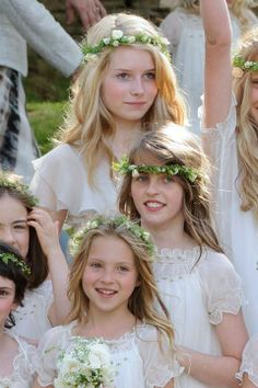 Kate Moss' sister Lottie (top) and daughter Lila Grace ( bottom) at her wedding