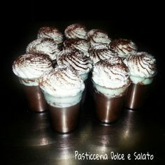 Chocolate pudding whit whipped cream...