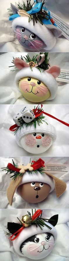 New Diy Christmas Ball Decorations Navidad Ideas Diy Christmas Ornaments, Christmas Balls, Homemade Christmas, Christmas Art, Christmas Projects, Holiday Crafts, Christmas Holidays, Angel Ornaments, Fun Projects