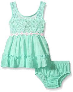 a4c91c27fea Limited Too Baby Daisy Chain Crinkle Lurex Gauze Sundress