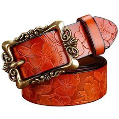 top quality cow genuine leather belt for women pin buckle women belt with gold c
