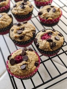 Chewy, delicious gut-friendly chocolate chip raspberry muffins made prebiotic with tiger nut flour, almond flour, and Dr. Plant Paradox Diet, Lectin Free Diet, Planning Budget, Menu Planning, Raspberry Muffins, Meal Planner, Coconut Flour, Free Food, Stuffed Peppers