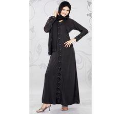 Modish Black Lycra #Abaya
