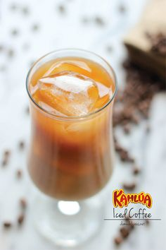 Kahlua Iced Coffee - Skip the Starbucks run and try a boozy iced coffee you can make in 2 min!