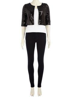 £36.00 black sequin jacket