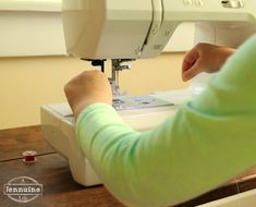 Tiny Sewists: Teaching Kids to Sew :: Lesson 10 Threading the Machine - A Jennuine Life
