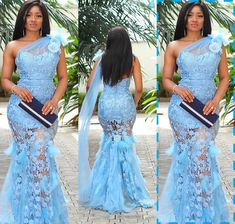 Aso ebi lace gown styles beautiful Aso ebi Long gown Lace for wedding Aso Ebi Lace Styles, Nigerian Lace Styles, African Lace Styles, Lace Dress Styles, African Lace Dresses, Latest African Fashion Dresses, African Print Fashion, African Style, African Traditional Dresses