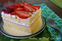 Traditional pastel de tres leches, or three milks cake calls for condensed milk, evaporated milk and whole milk. In many Latin American countries, this cake is a must at weddings and quinceañeras and paired with seasonal fruit and nuts. It's dense, moist, fluffy and sweet; a perfect combination to showcase at celebrations and family gatherings.  Many bakers add rum, cognac or rompope to the milk mixture to balance out the sugar. I went a step further and drizzled it with dulce de leche…