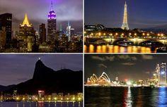 City Skylines at night - Amalgama Photo/Getty Images; Getty Images/Getty Images; Douglas Engle/Bloomberg; Sandra Mu/Getty Ima...