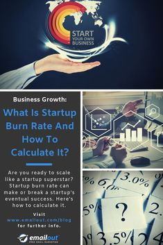 Are you ready to scale like a startup superstar? Startup burn rate can make or break a startup's eventual success. Here's how to calculate it. Free Email Marketing, Digital Marketing, New Market, Startups, Calculator, Need To Know, Superstar, Burns, Scale