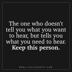 The One Who Doesn't Tell You What