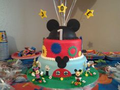 Mickey Mouse Club House cake. I Made for baby Joe