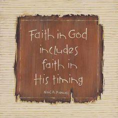 have a faith in God