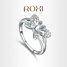 I found 'ROXI  Beautiful butterfly Rings platinum plated with AAA zircon,fashion Environmental Micro-Inserted Jewelry,101017510' on Wish, check it out!
