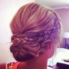 Not sure what hair you want or want bridesmaids to have but this is pretty! :)