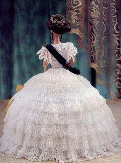 Королева Виктория наряд для куклы Барби Annie's Attic Royal Court узор