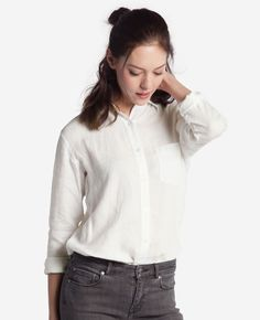 Your boyfriend's shirt is nice and all, but we wanted to make one tailored just for you. We've taken the boyfriend shirt that you know and love and made it super soft. No really, we're talking about serious softness here. Soft, breathable, fitted – what's not to like?