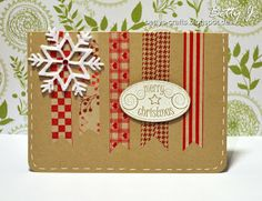 DIY washi tape christmas card with simple video tutorial