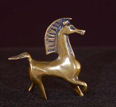 Black Stallion Bucephalus Bronze figurine Collectible Horse Arab movie Classic!