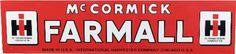 McCormick Farmall Porcelain Sign