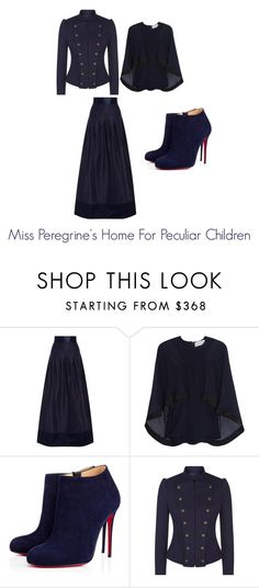 """Miss Peregrine's Home for Peculiar Children style report"" by andreapristley24601 ❤ liked on Polyvore featuring Temperley London, Esteban Cortazar, Christian Louboutin and Polo Ralph Lauren"