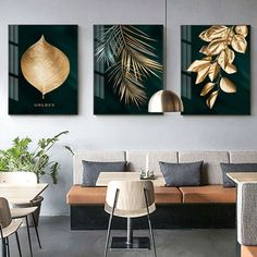 Abstract Golden Plant Leaves Picture Wall Poster Modern Style Canvas Print Painting Art Aisle Living Room Unique Decoration in 2019 Leaf Wall Art, Abstract Wall Art, Wall Art Decor, Room Decor, Feather Wall Art, Wall Art Sets, Living Room Pictures, Wall Art Pictures, Salon Pictures