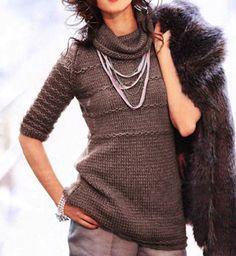 Красивый пуловер с короткими рукавами - схема вязания спицами | Я Хозяйка