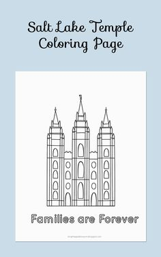 Free Printable Brigham City Temple Coloring Page Bright Apple