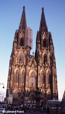 cathedral in cologne, germany (begun in 13th century; completed 19th century)