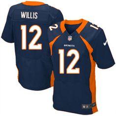 Men's Nike Denver Broncos #12 Matt Willis Elite Navy Blue Alternate NFL Jersey Sale