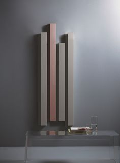 Warmwasser- vertikaler Designheizkörper aus Aluminium Rift Kollektion Elements by Tubes Radiatori Design Ludovica Roberto Palomba, Matteo Fiorini