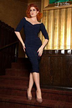 Monica Dress in Navy Blue