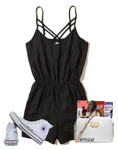 """""""New Challenge"""" by kamdanielson on Polyvore featuring Hollister Co. and Converse"""