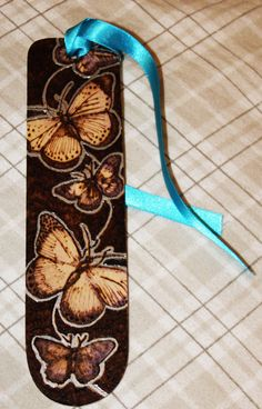 Pyrography Butterfly bookmark by *BumbleBeeFairy on deviantART