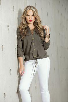 White Jeans, Button Down Shirt, Casual, Outfits, Tops, Women, Shirts, Fashion, Shopping