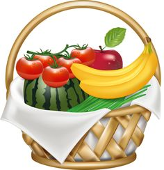 519 best fruit clip art and photos images on pinterest in 2018 rh pinterest com fruit basket clip art fruit basket clipart images