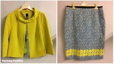 Paola CollectionMustard jacket with black and white spot insert on buttonsBlack and white spotted pencil skirt with mustard bit polka dotsPerfect for a wedding or a day at the racesSold as a suit