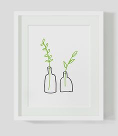 Nothing like keeping it simple once in a while! Minimalist Small Plants INSTANT DOWNLOAD by AzzariJarrettDesignson Etsy.